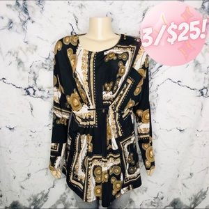 💖3/$25💖Laura Long Sleeve Gathered Gold Blouse